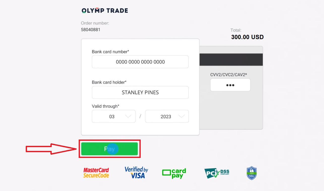 Olymp Trade میں پیسے کیسے جمع کروائیں